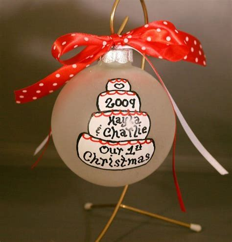 first married christmas ornament newly wed life pinterest