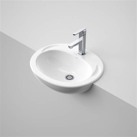 Semi Recessed Vanity Basins by Caroma White Semi Recessed Concorde Vanity Basin 1th