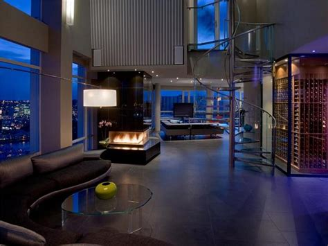 Modern Luxury Penthouses by The 10 Million Aquarius Penthouse Feels Like A Nightclub