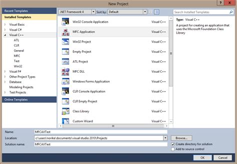 tutorial visual studio 2010 mfc create a new mfc project with a chart in visual studio