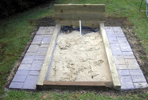 how to build a horseshoe pit in your backyard how to build back yard horseshoe pits images frompo