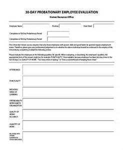 30 day performance review template sle employee evaluation form 11 free documents in pdf