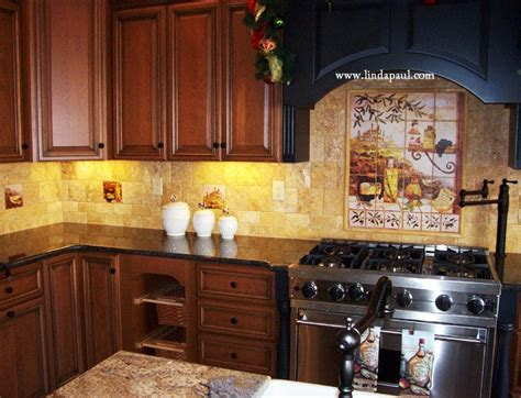 Home Decorating Ideas Kitchen Backsplash Tuscan Backsplash Tile Murals Tuscany Design Kitchen Tiles