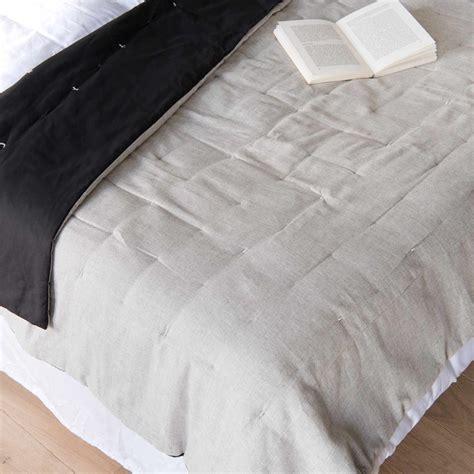 copriletto grigio copriletto trapuntato grigio in cotone 140x200 maisons