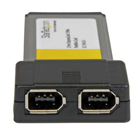 ieee 1394a startech ec13942a2 2 expresscard 1394a firewire