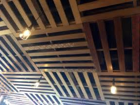 Diy Basement Ceiling Ideas Ceiling Made From Pallets Pallets To Furniture Coffered Ceilings Pallets And