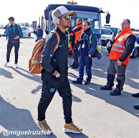 neymar jr supreme nike air more uptempo gold sneaker bar