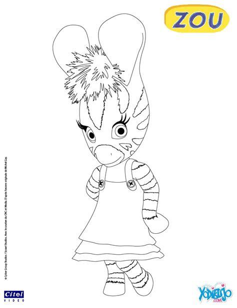 dibujos para pintar zou la cebra zou juega con un coche dibujos para colorear zinnia es hellokids com