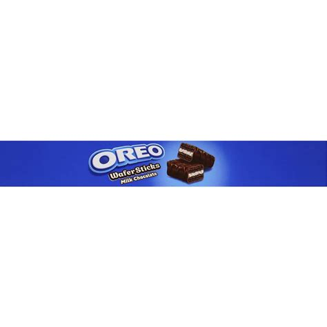 Oreo Wafer Sticks Milk Chocolate nabisco oreo chocolate wafers biscuit 20pk 256g woolworths