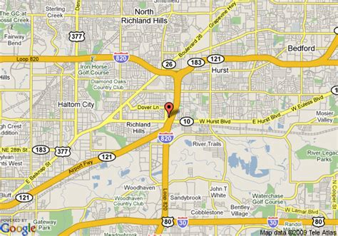 where is hurst texas on map of texas map of americas best value inn suites hurst