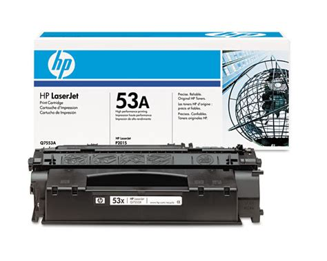 Toner Q7553a hp part q7553a toner cartridge hp 53a 3000 pages