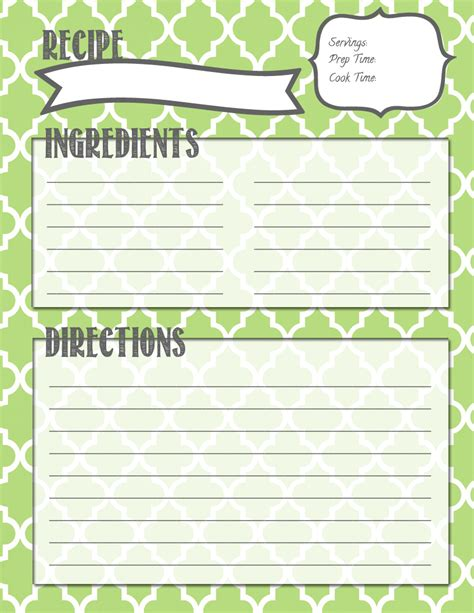 recipes template it in the mitten recipe binder printables