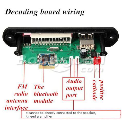 Digital Decoding Board Bluetooth Sd Card Fm Radio bluetooth mp3 wma decoder board 12v wireless audio module usb tf radio expreso shop