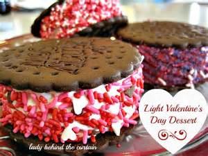 light valentine s day dessert