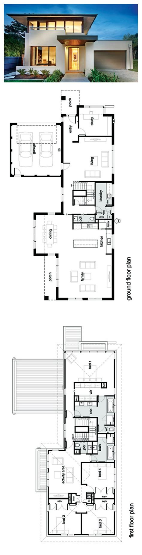 2 story villa floor plans best 25 modern house plans ideas on modern
