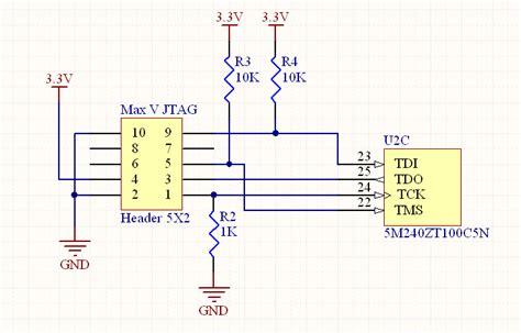 jtag pull up resistor pull up resistors jtag 28 images solved fpga unresponsive after programming community forums