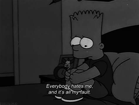 sad bart and tired image lo que me mueve pinterest frases black and white pictures tumblr