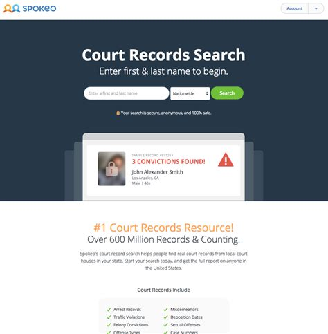 Court Search Introducing Court Record Search On Spokeo