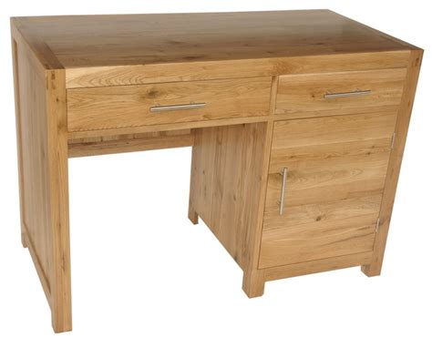 Solid Wood Interiors Gt Solid Oak Office Desks Single Home Office Wood Desk