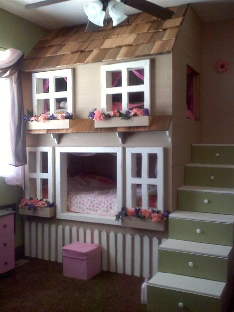 house bed for girl tree house bunk beds for kids homesfeed