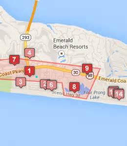 destin florida map of hotels destin hotels near the