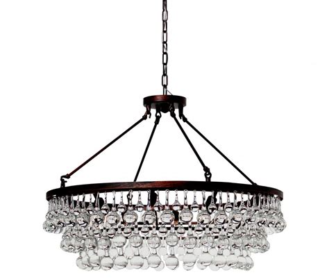 Celeste Glass Drop Crystal Chandelier Oil Rubbed Bronze Drop Chandelier