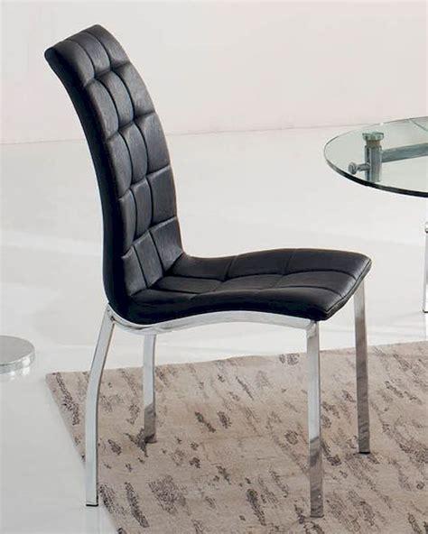 black upholstered dining chair 33 365bl set of 2