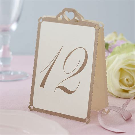 how to make table cards wedding table numbers ivory gold by