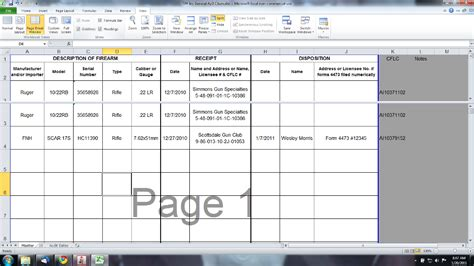 Why You Can T Keep Firearms Acquisition And Disposition Record Books In Microsoft Excel Ffl Bound Book Template