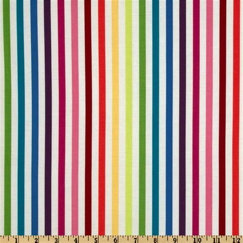 Striped Home Decor Fabric by Michael Miller Stripes Mighty Stripe Rainbow Discount