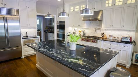 Kitchens With Black Countertops Cosmic Black Black Galaxy Granite Kitchen Countertops