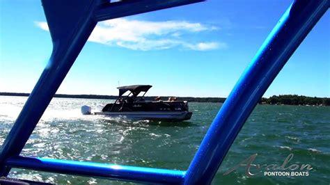 newport pontoons avalon tahoe twin engine at newport pontoons youtube