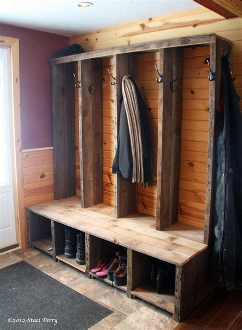 build coat rack bench woodworking projects plans