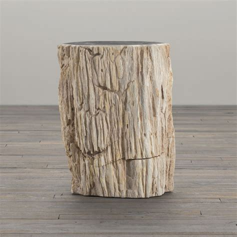 Wood Stump Table by Petrified Wood Stump End Table The Green