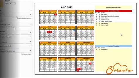 tutorial excel calendar tutorial excel creaci 243 n de calendarios youtube