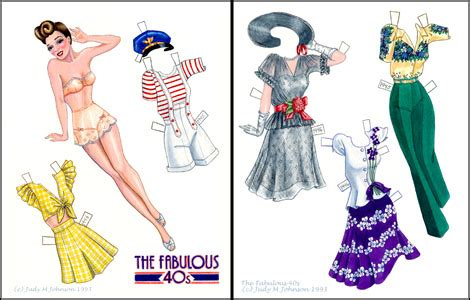 fabulous 40s paper doll 1940s fashions paper dolls of