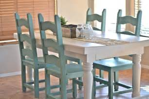 painted table and chairs dining room table makeover paddington way