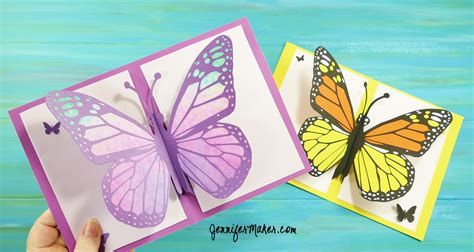 butterfly template for pop up cards pop up butterfly card 13 maker