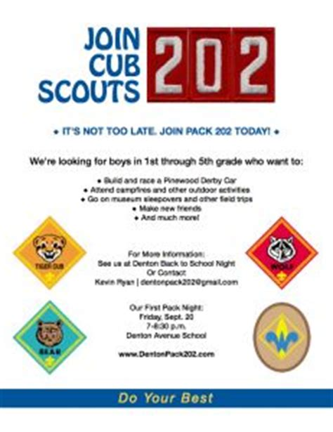boy scout leader business card template cub scout recruitment flyer cub scout pack 360