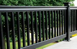 fence post solar lights black vinyl railing