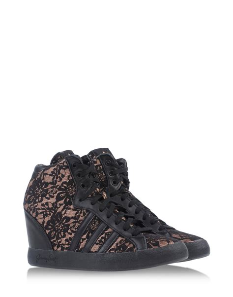for adidas hightops trainers in black lyst