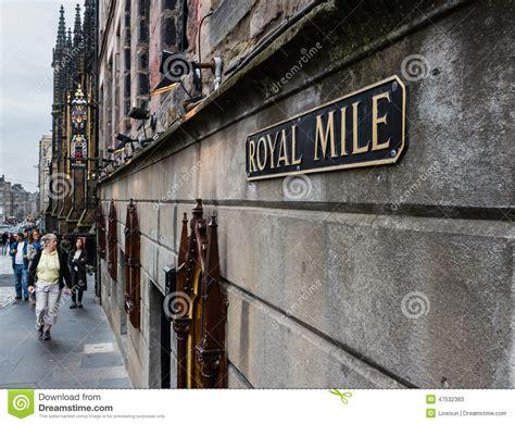 design house hill street edinburgh a royal mile street sign in edinburgh scotland editorial