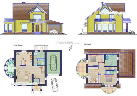 home design dwg download small family house plans cad drawings autocad file download