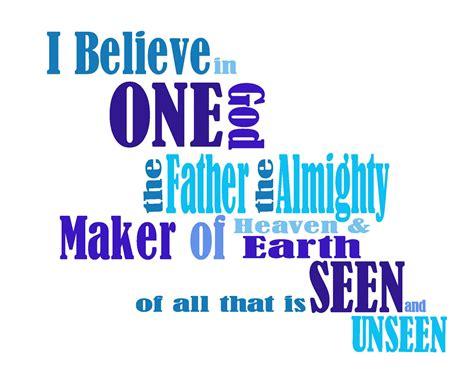 believe one nicene creed craft one god