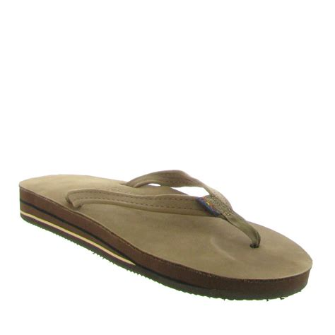 with rainbow sandals rainbow sandals layer leather sandal with narrow