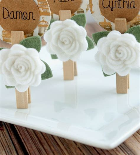 place card holders ideas for your wedding arabia weddings felt flower place card holder only the use of a