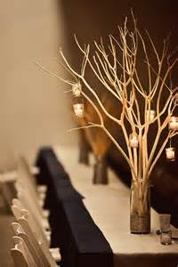 twigs and tea lights candle branch centerpiece wedding ideas weddings centerpieces