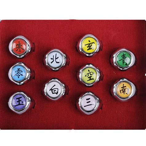 Ring Akatsuki Set new rings 10 pcs akatsuki member s ring set ebay