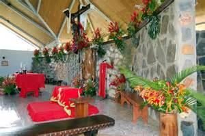 l decoration marquises d 233 coration de l 233 glise de hakahau pour la pentec 244 te les marquises