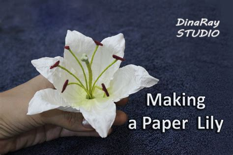 How To Make A Paper Lilly - paper